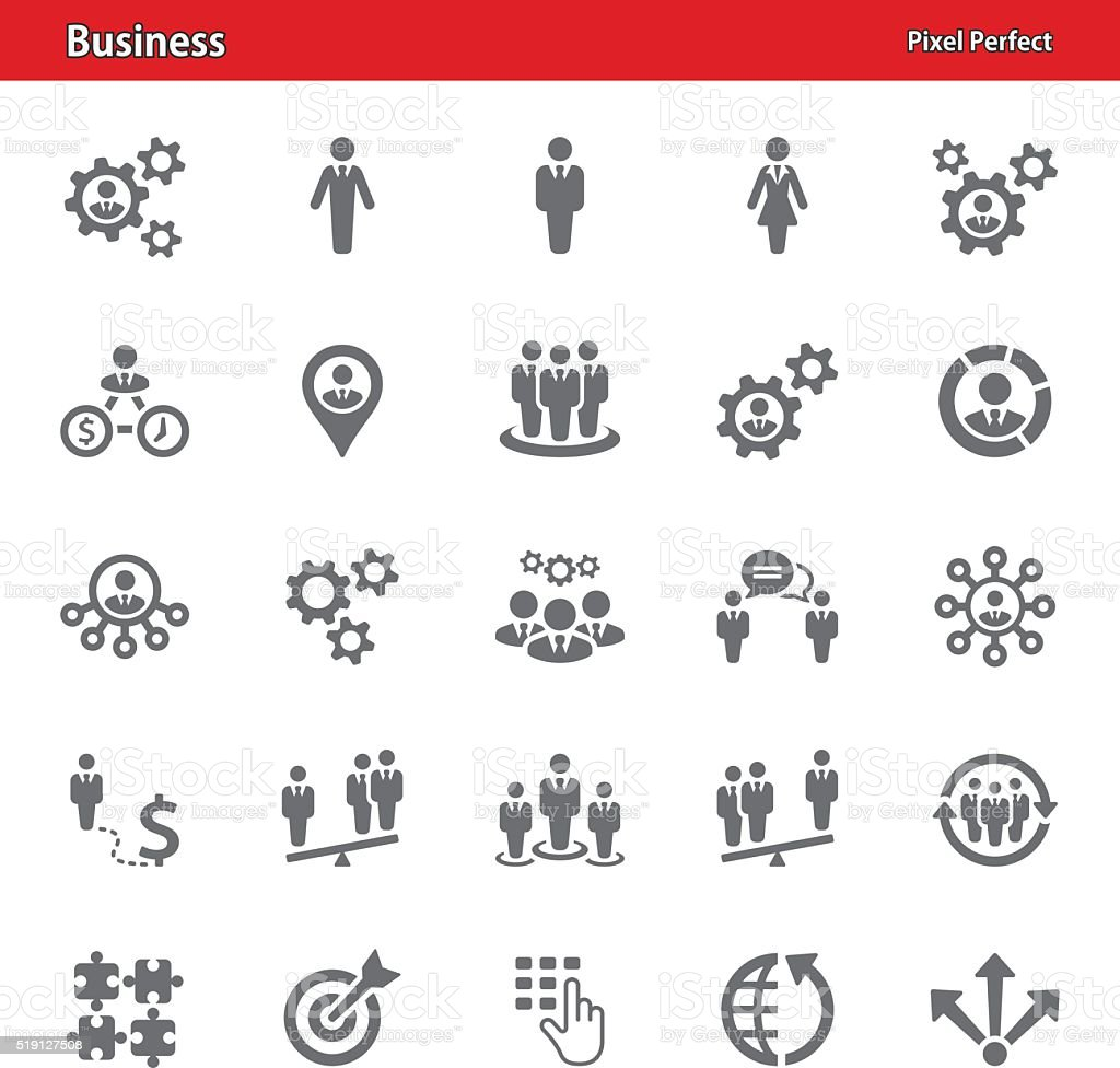 Business Icons - Set 4 vector art illustration