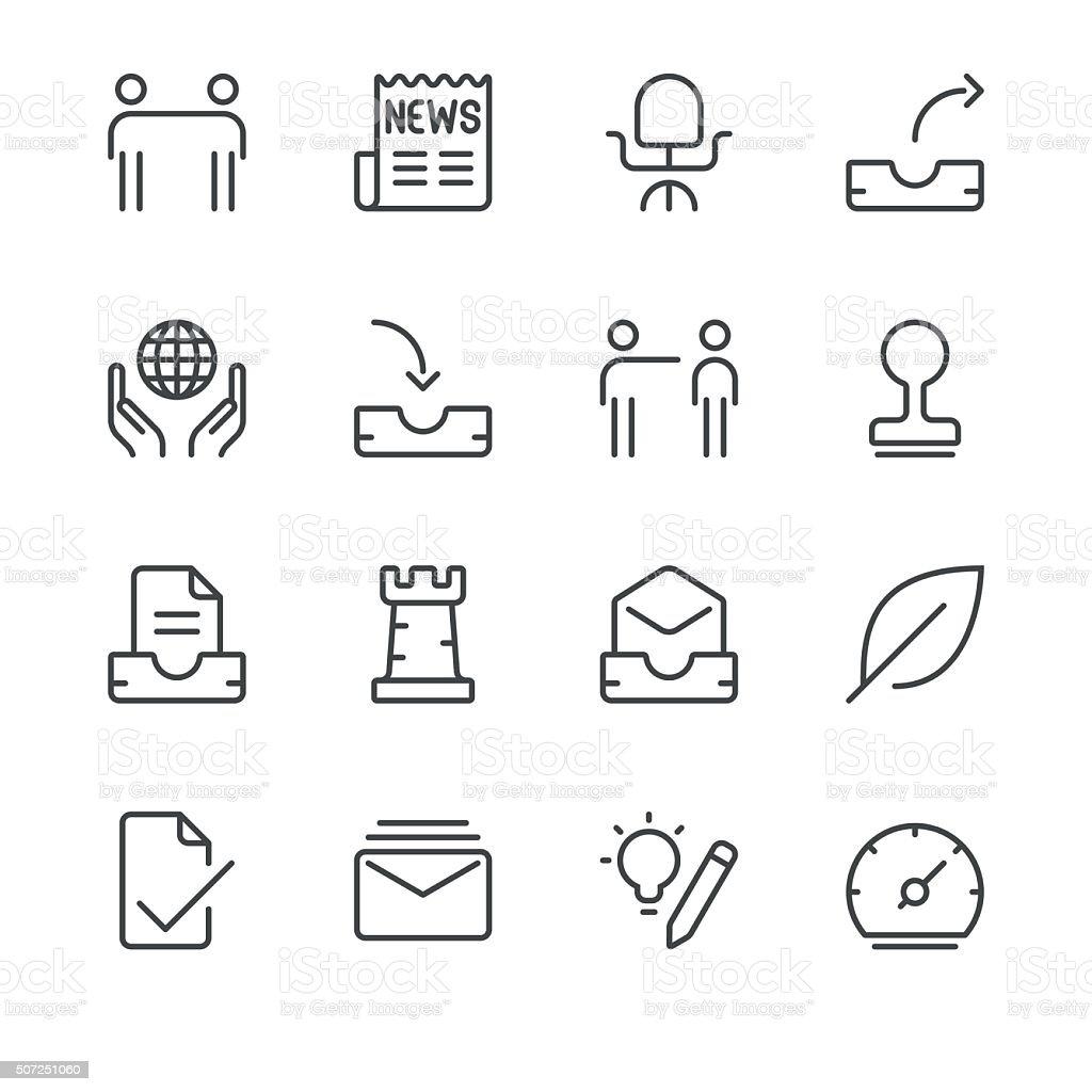 Business Icons set 5 | Black Line series vector art illustration
