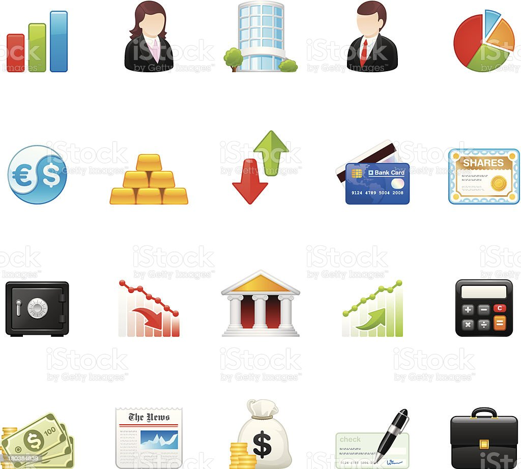 Business icons | set 8 royalty-free stock vector art