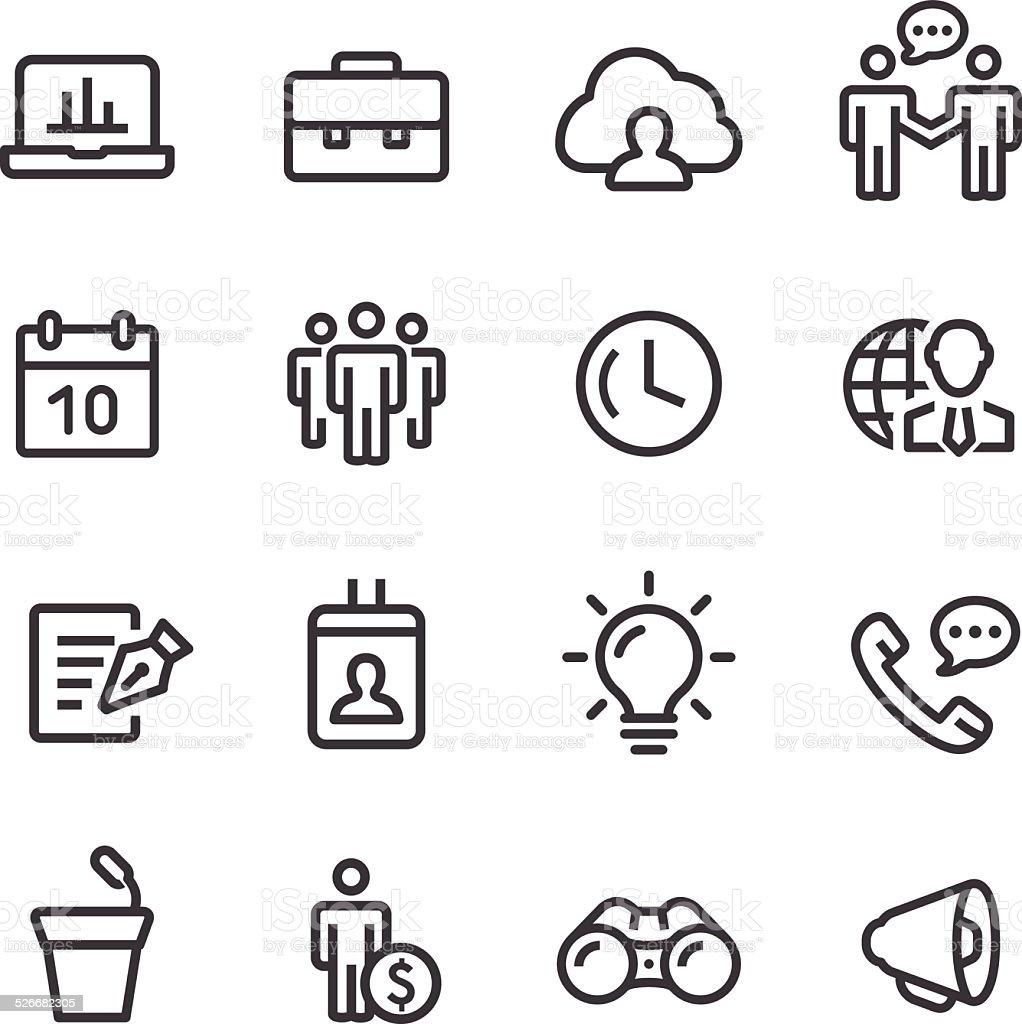 Business Icons Set - Line Series vector art illustration