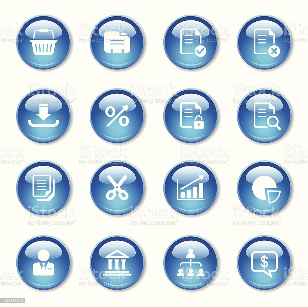 Business Icons Set royalty-free stock vector art