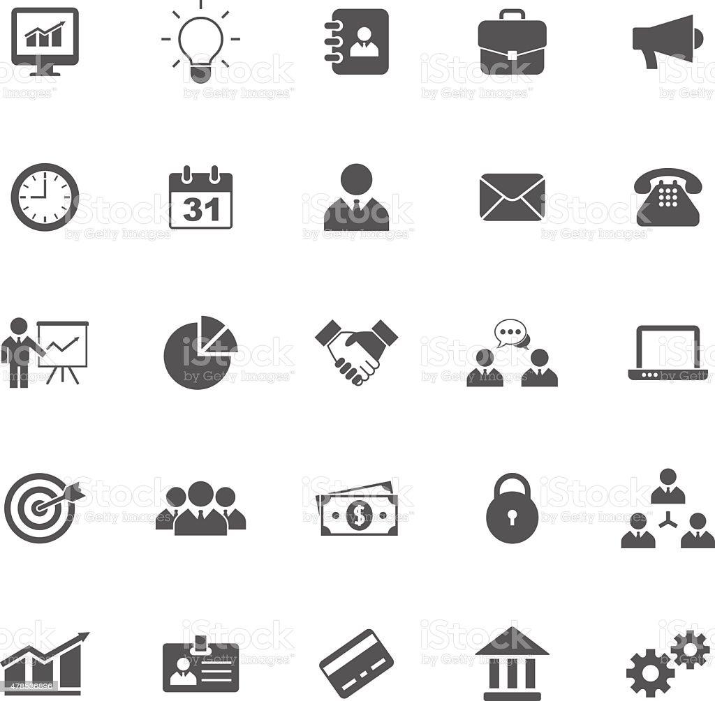 Business icons set vector art illustration
