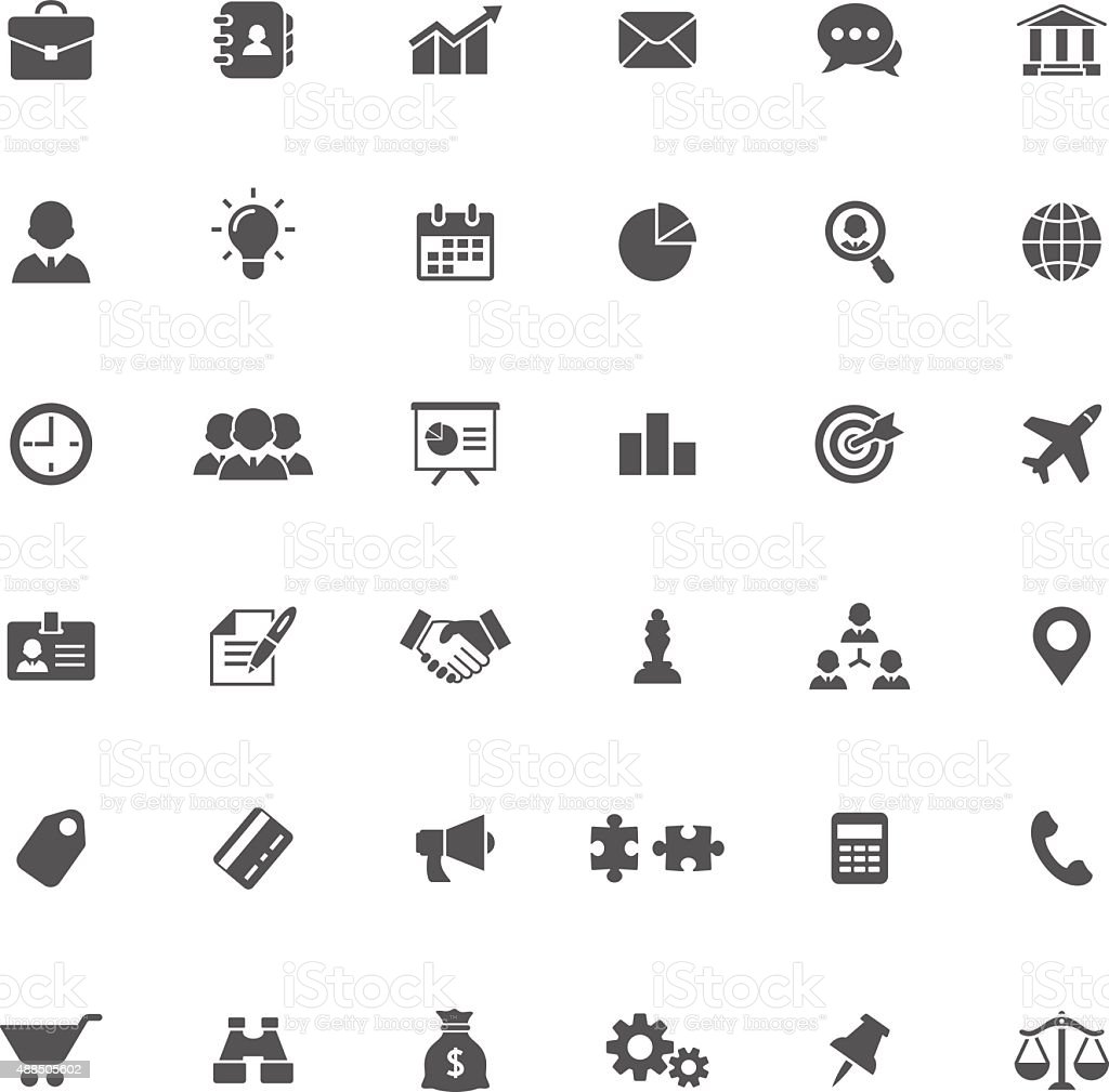Business icons vector art illustration