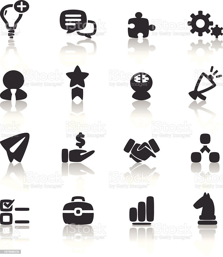 Business icons vector set design royalty-free stock vector art