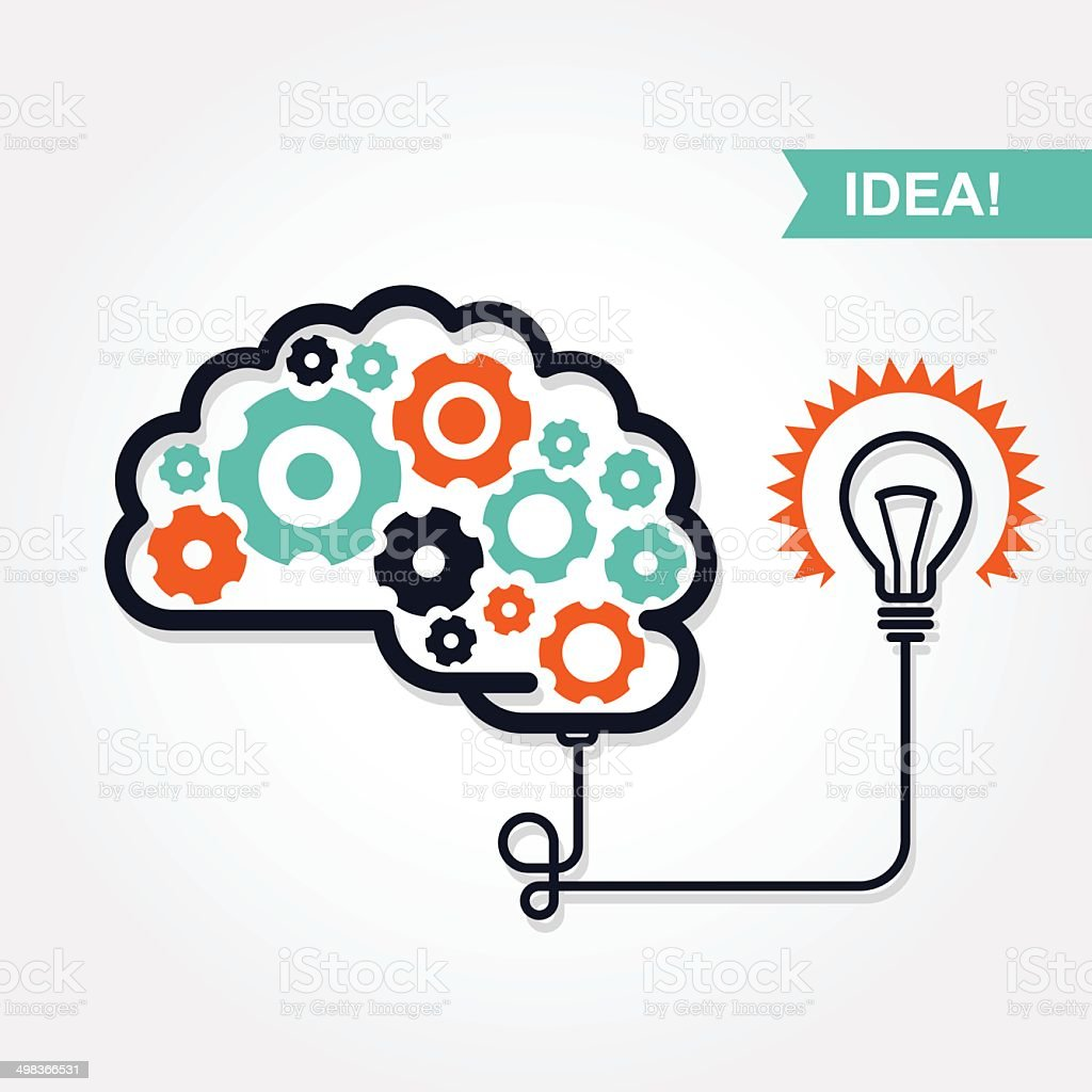 Business idea or invention icon vector art illustration