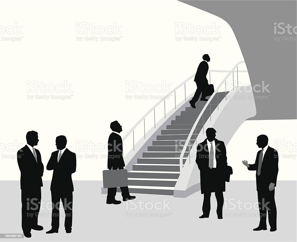 Business Imperatives Vector Silhouette royalty-free stock vector art