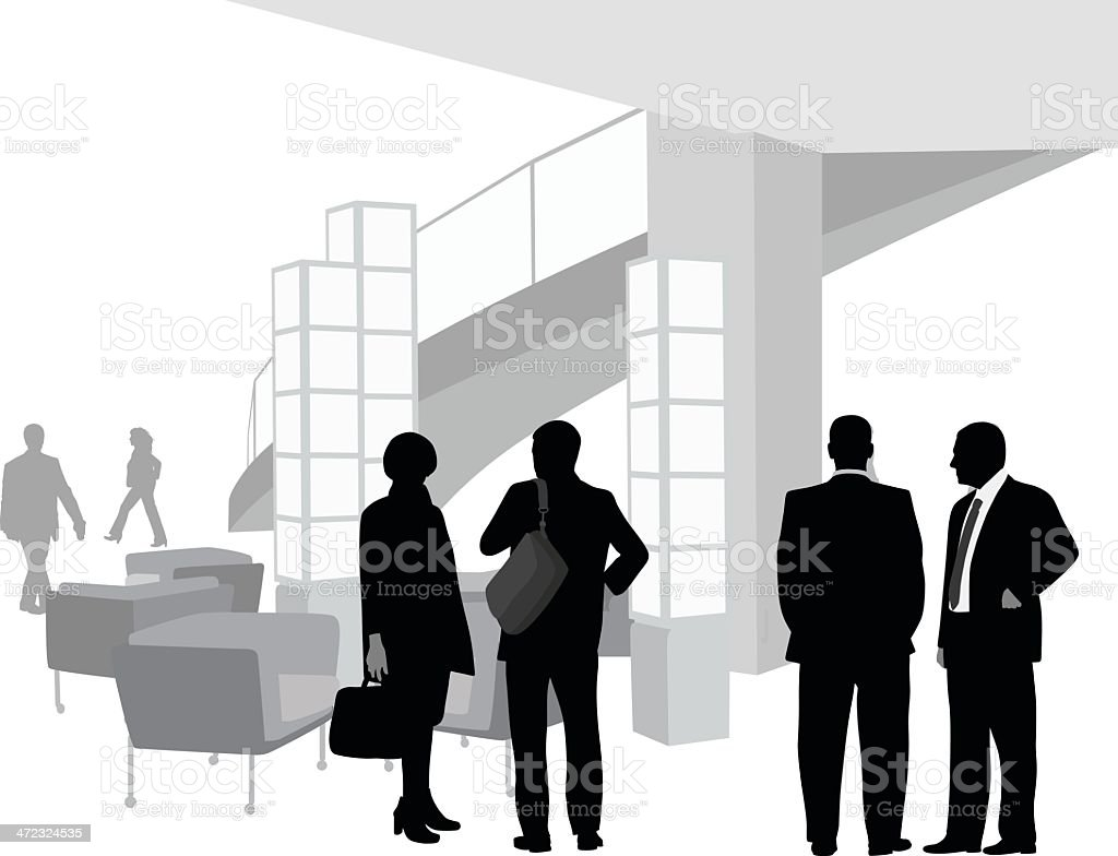 Business In The Lobby royalty-free stock vector art