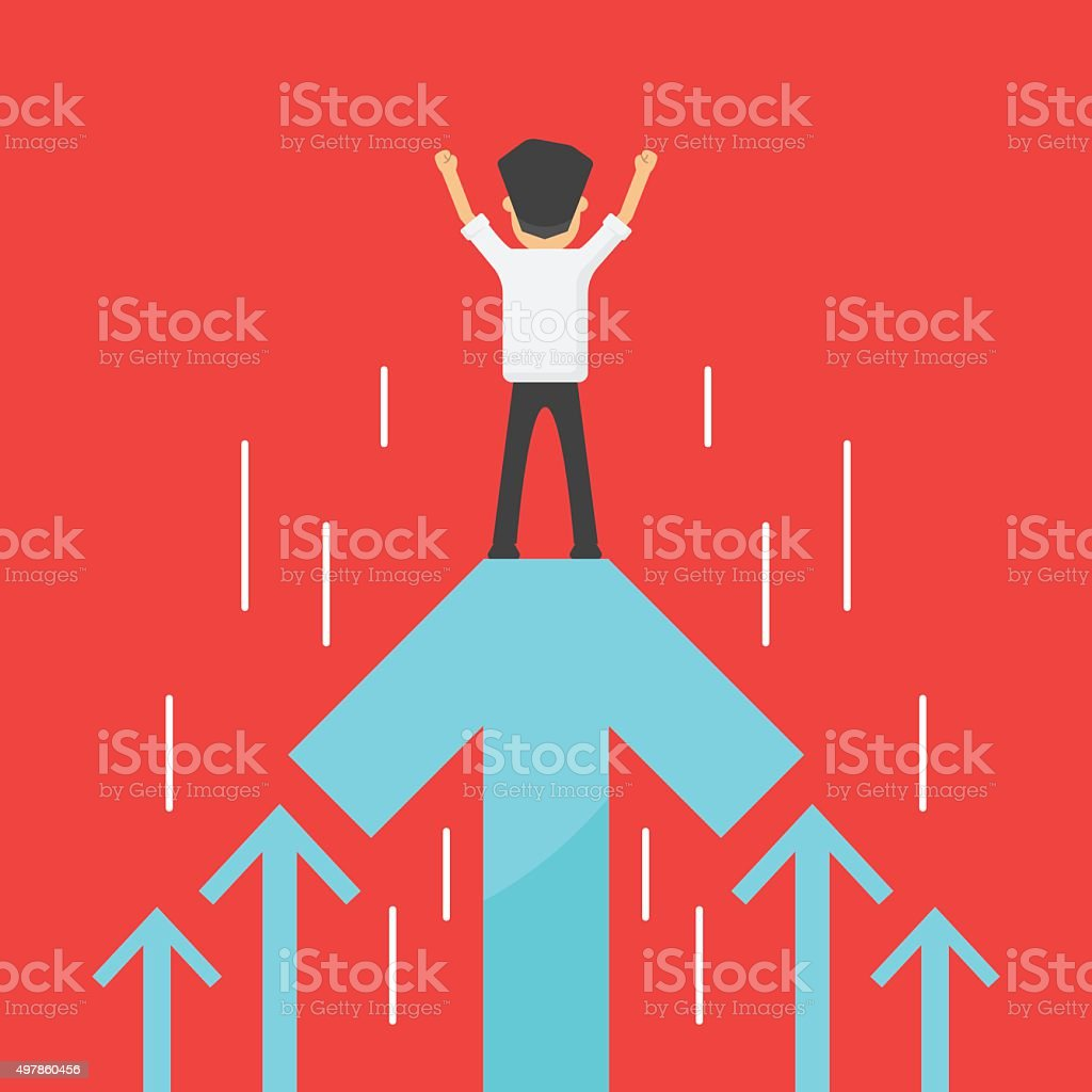 business increase success vector art illustration