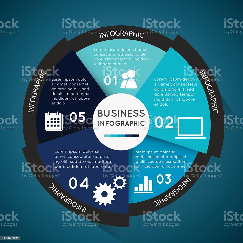 Business infographic circle vector art illustration