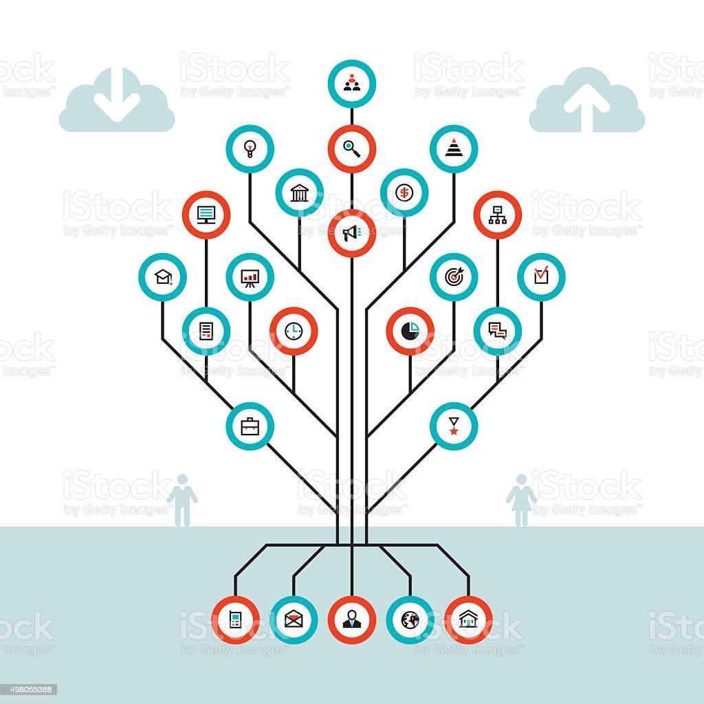 Business infographic concept - tree vector illustration vector art illustration