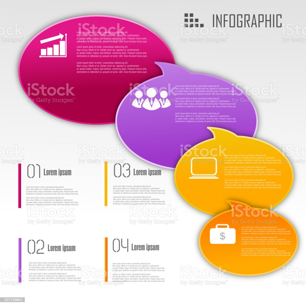 Business infographic design vector art illustration