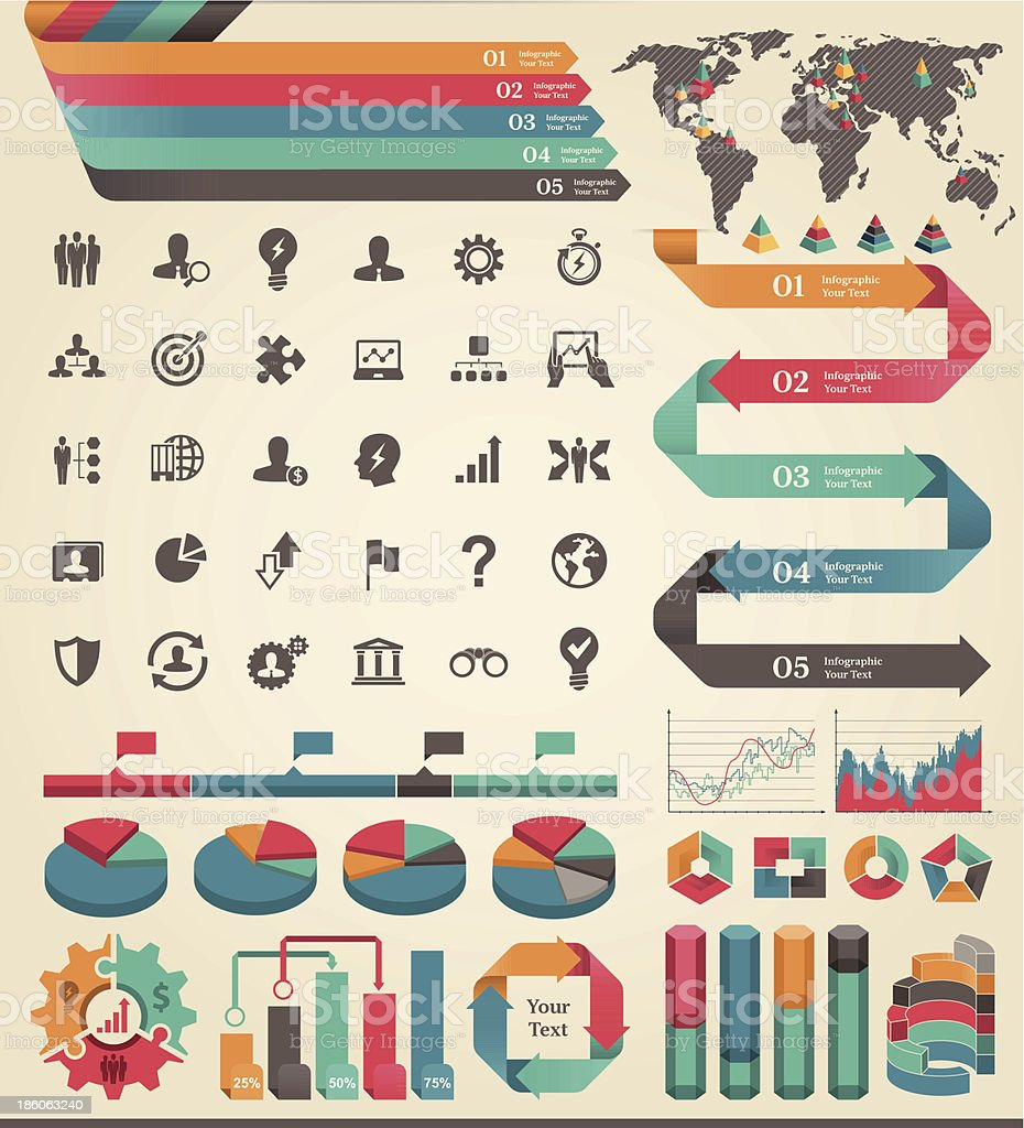 Business infographic elements royalty-free stock vector art