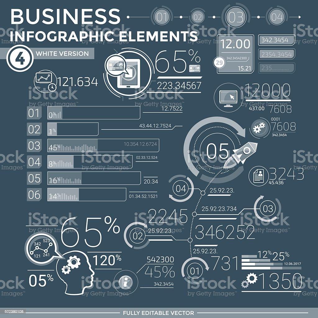 Business Infographic Elements vector art illustration