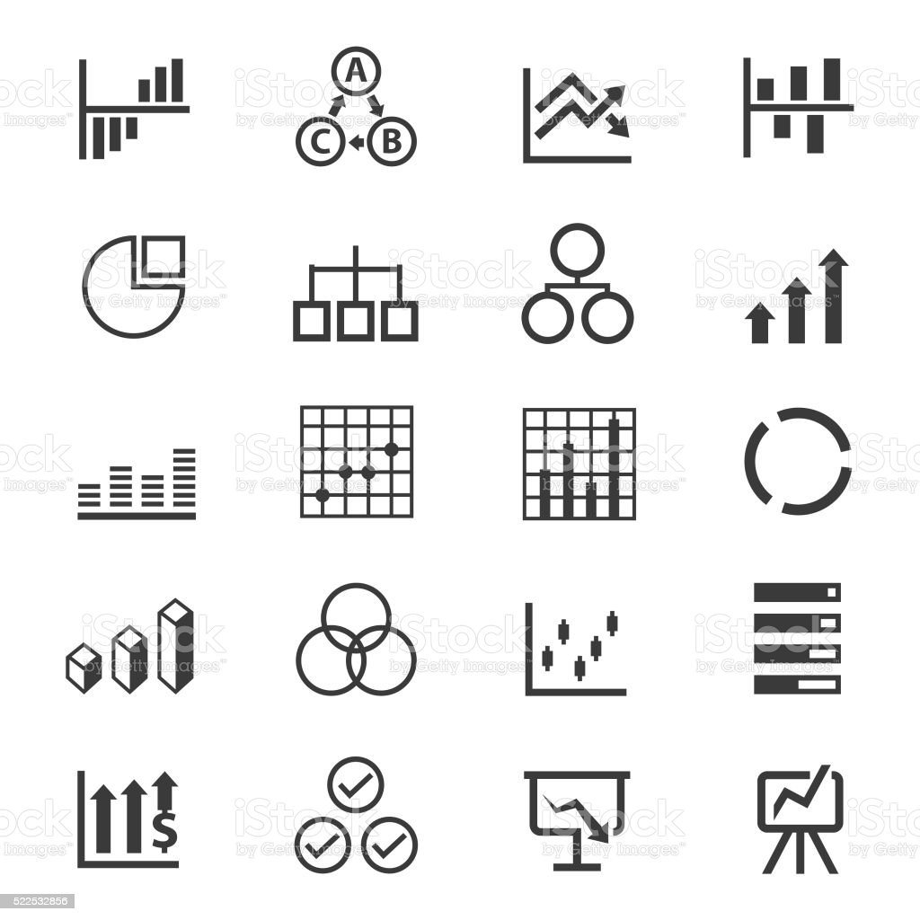 Business Infographic icon set vector art illustration