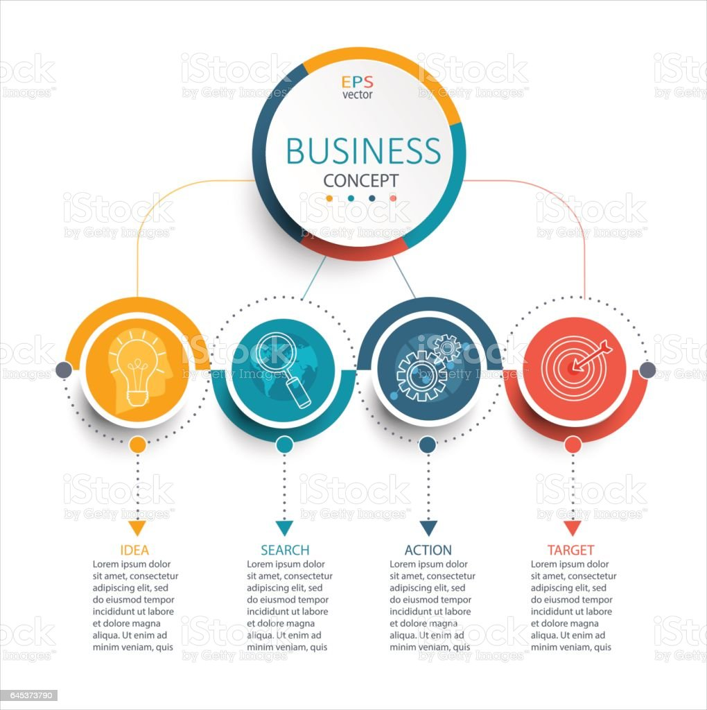 Business Infographic template, vector. royalty-free stock vector art