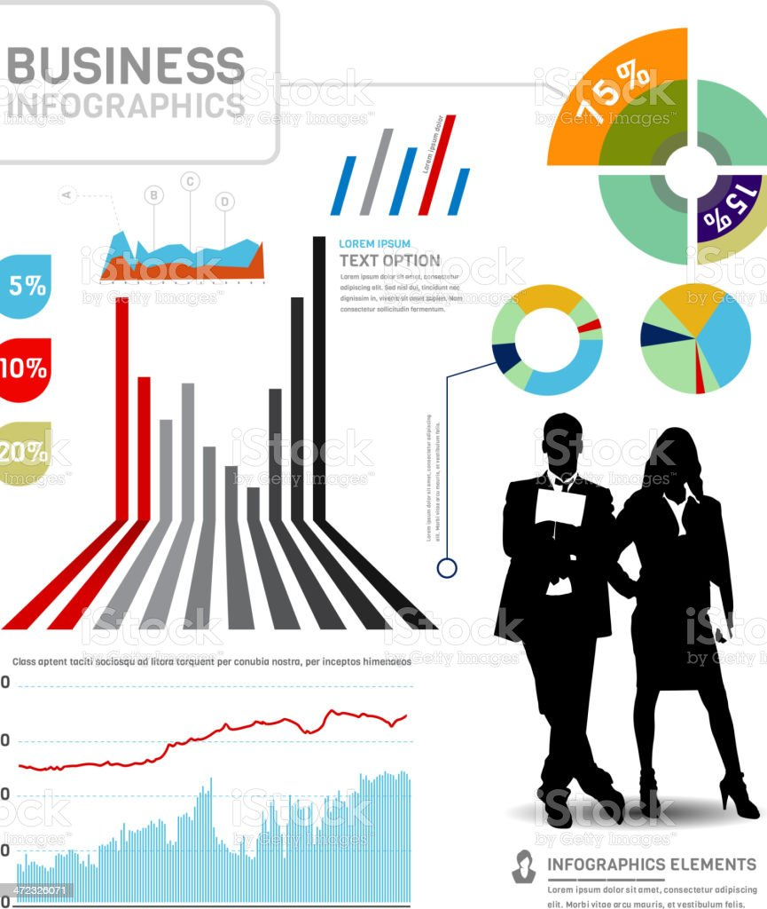 Business Infographic royalty-free stock vector art