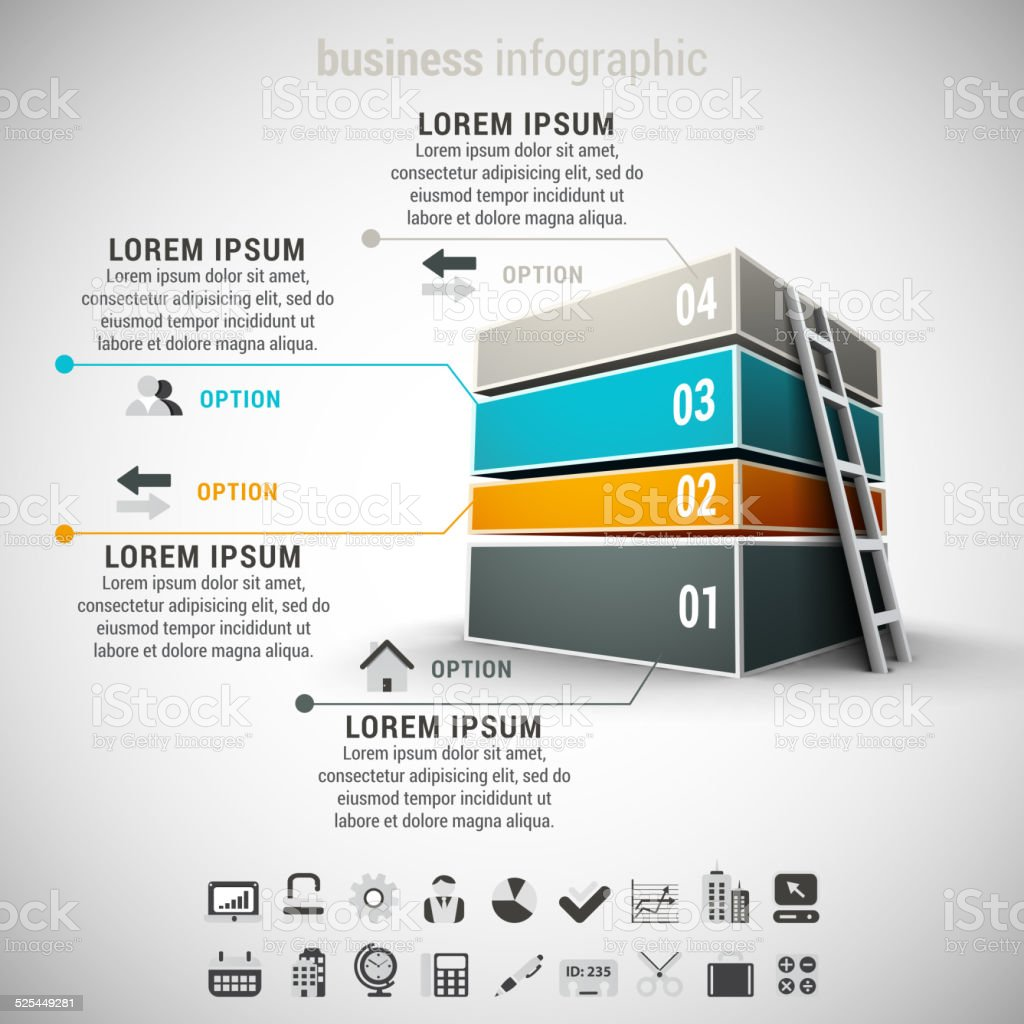 Business Infographic vector art illustration