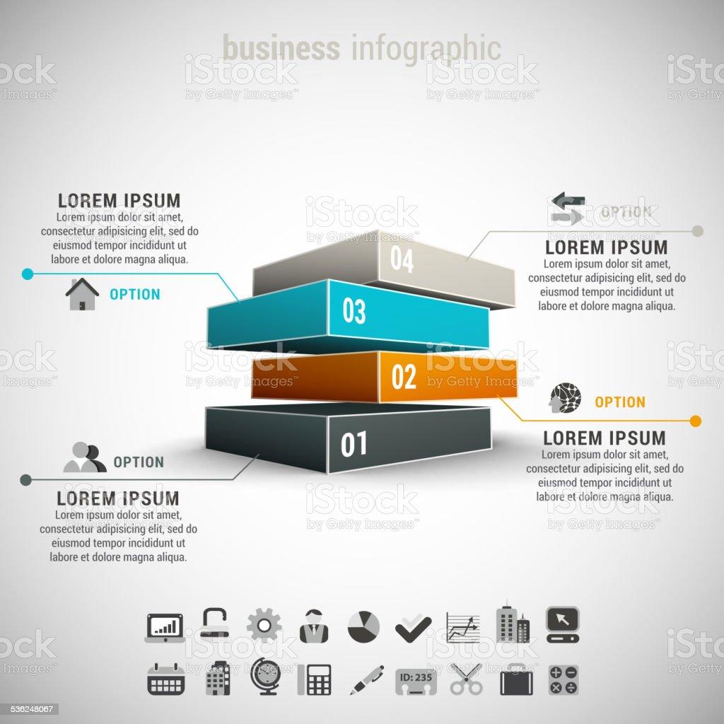 Business Infographic vector art illustration