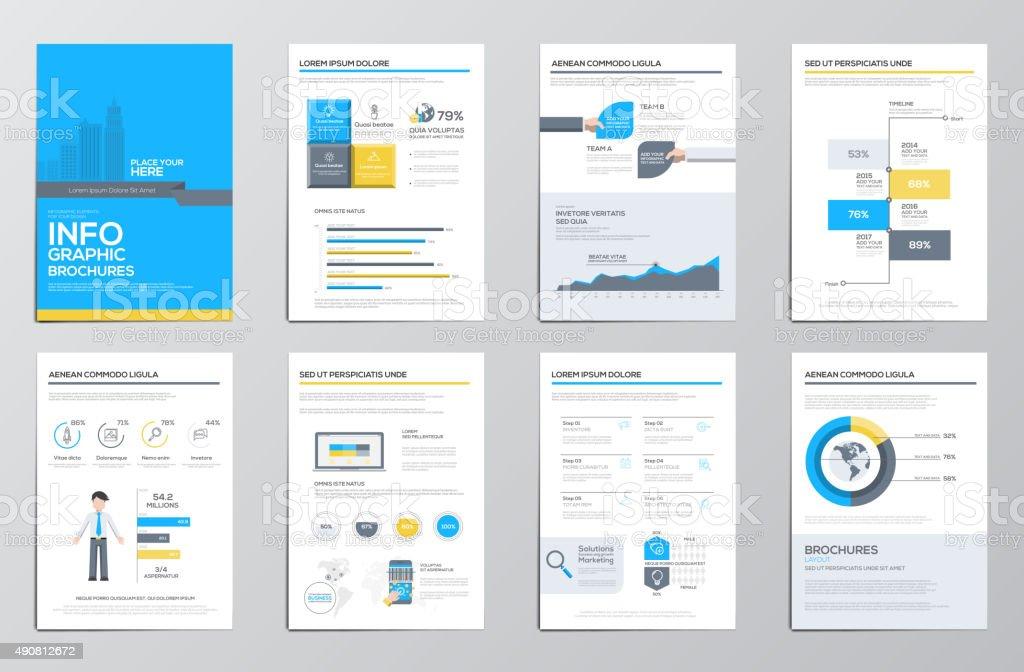 Business infographics elements for corporate brochures vector art illustration