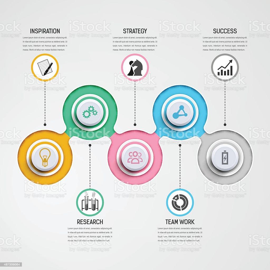 Business Infographics vector art illustration