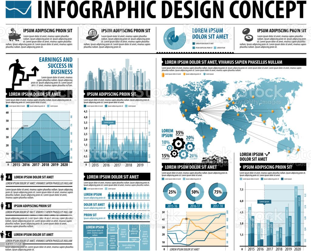 business infographics web design for workflow layout diagram. vector template vector art illustration