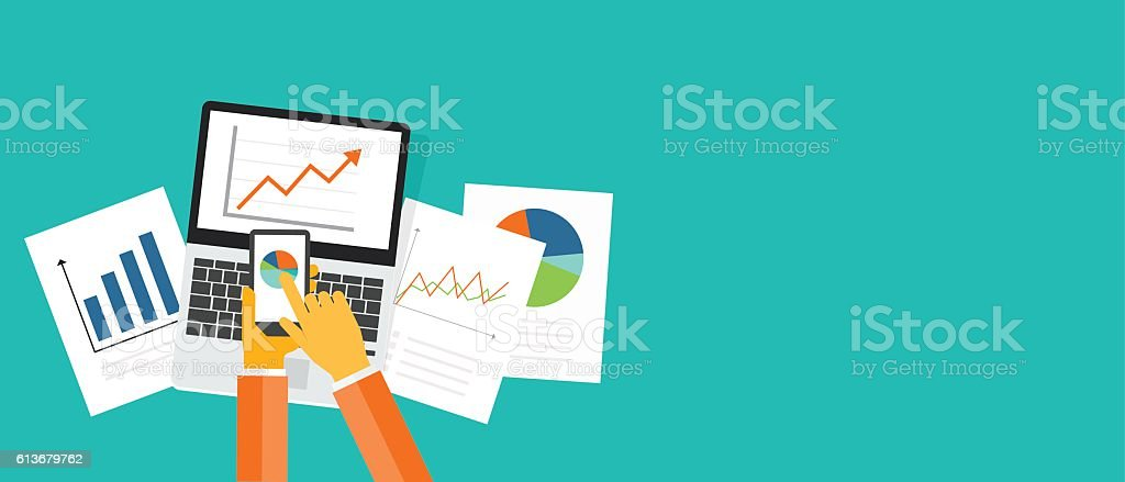 business investment and finance banner vector art illustration