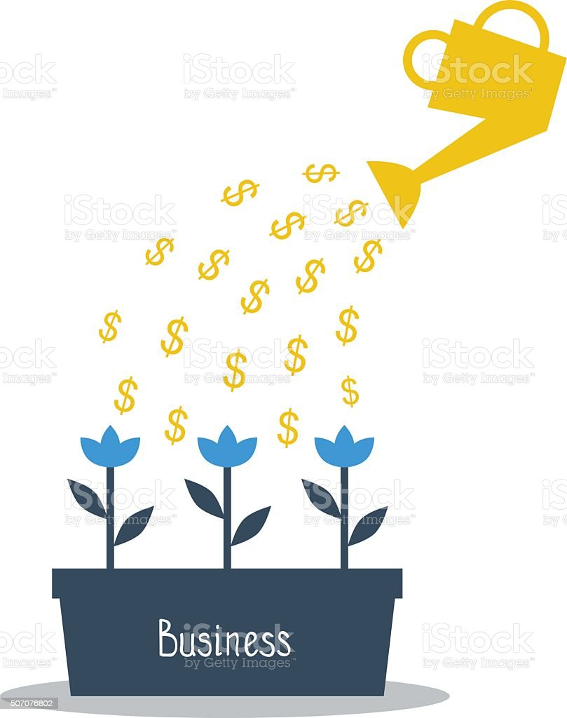 Business investments concept vector art illustration