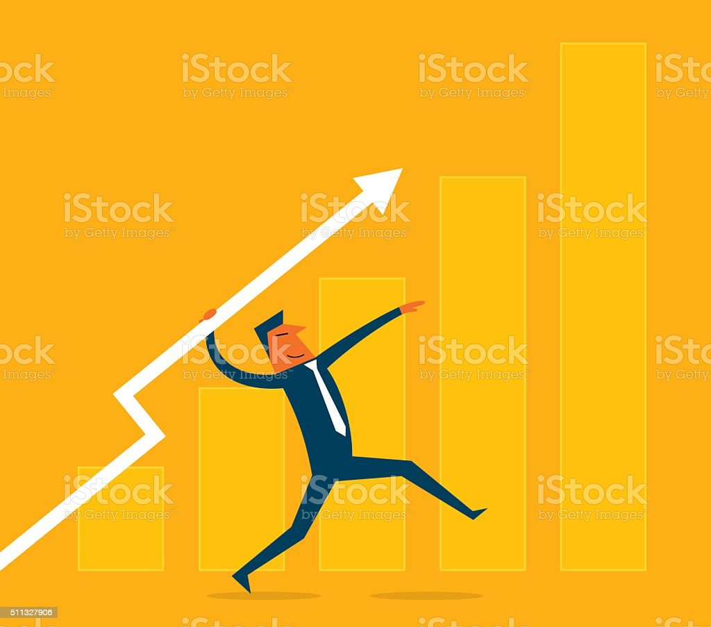 Business javelin vector art illustration
