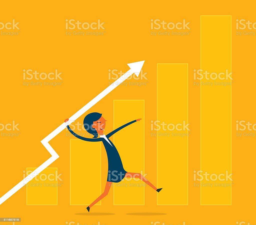 Business javelin vector art illustration