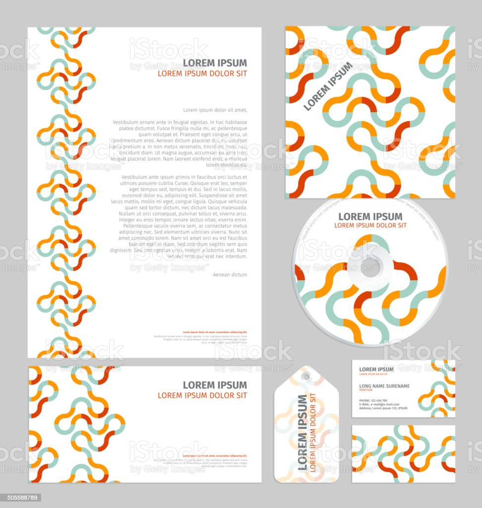 Business layout template vector art illustration