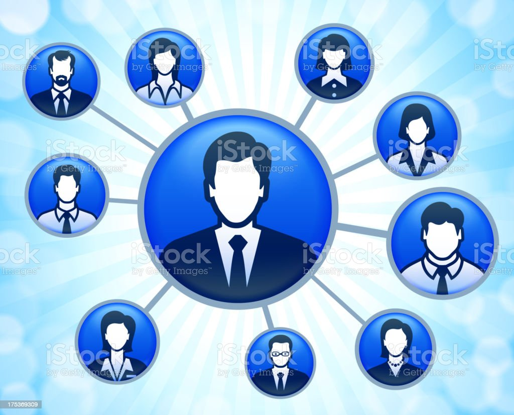 Business Leadership and Public Relations Network royalty-free stock vector art