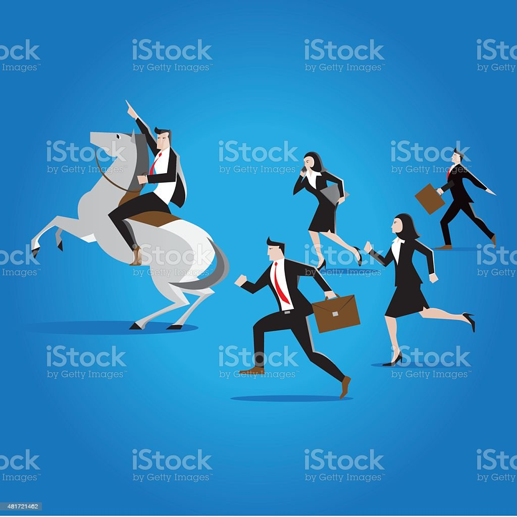 business leadership vector art illustration