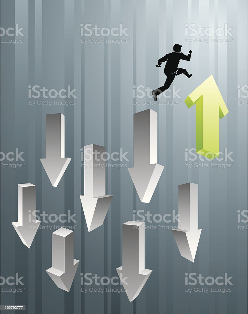 Business Leap royalty-free stock vector art