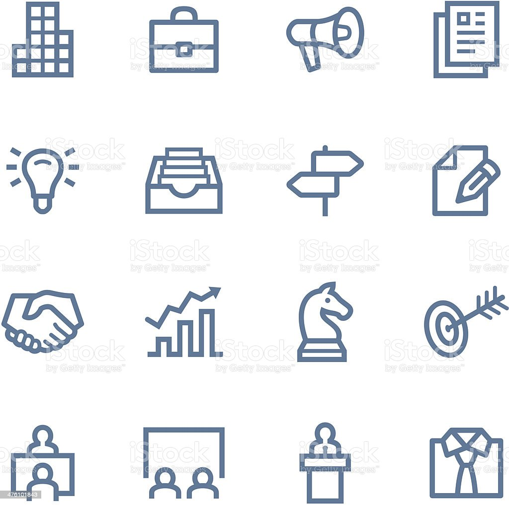 Business Line icons royalty-free stock vector art