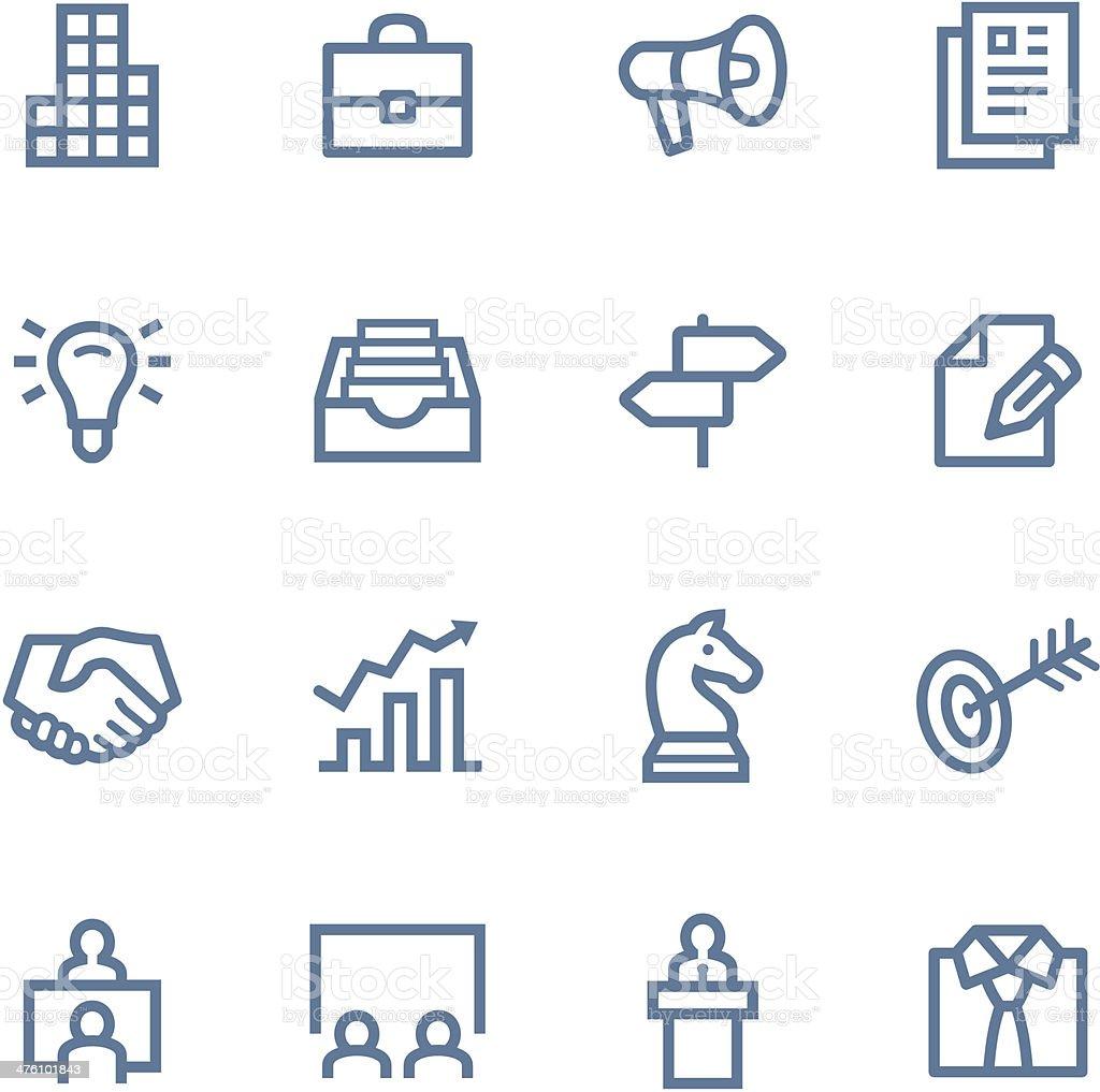 Business Line icons vector art illustration