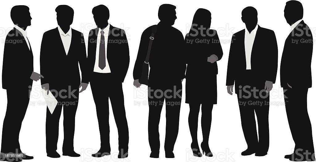 Business Line Up vector art illustration