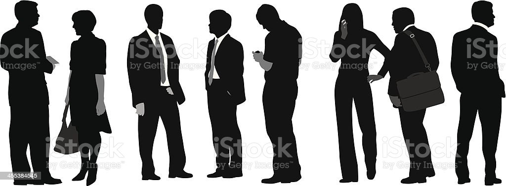 Business Line Vector Silhouette royalty-free stock vector art