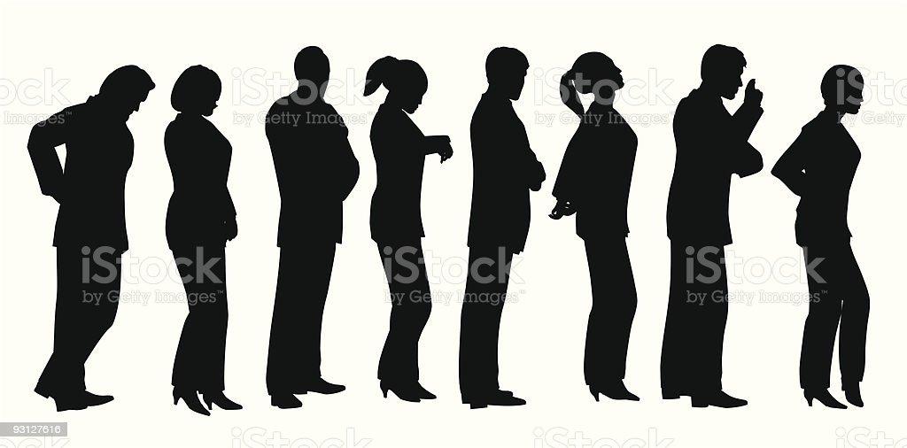 business lineup vector art illustration
