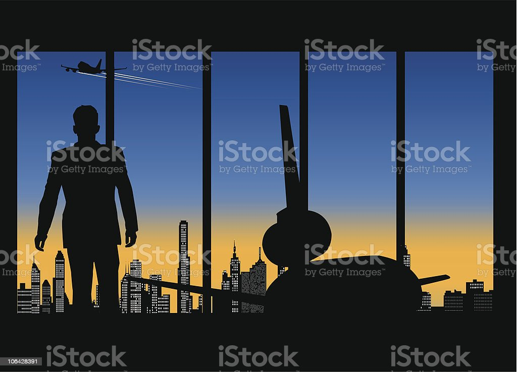 Business lounge royalty-free stock vector art