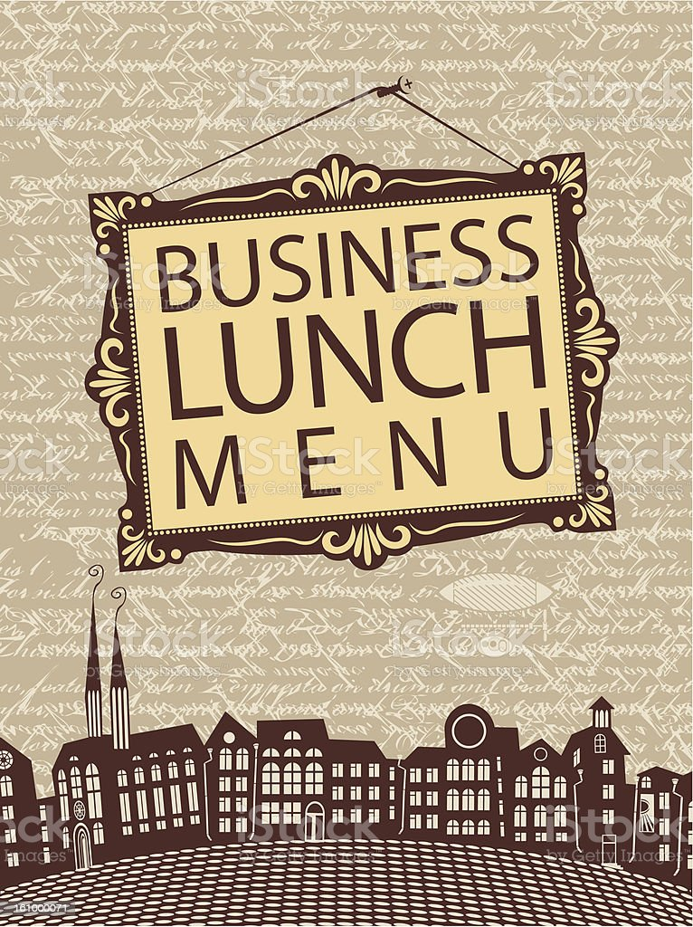 Business lunch royalty-free stock vector art