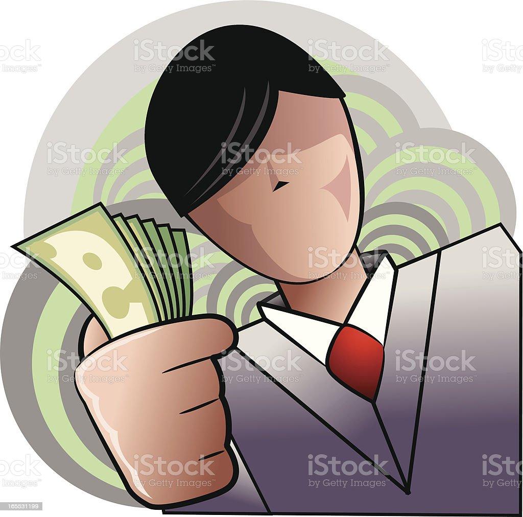 Business Man Cartoon vector art illustration