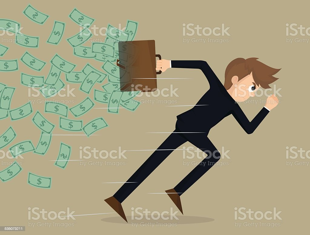 business man competitive with business vector art illustration