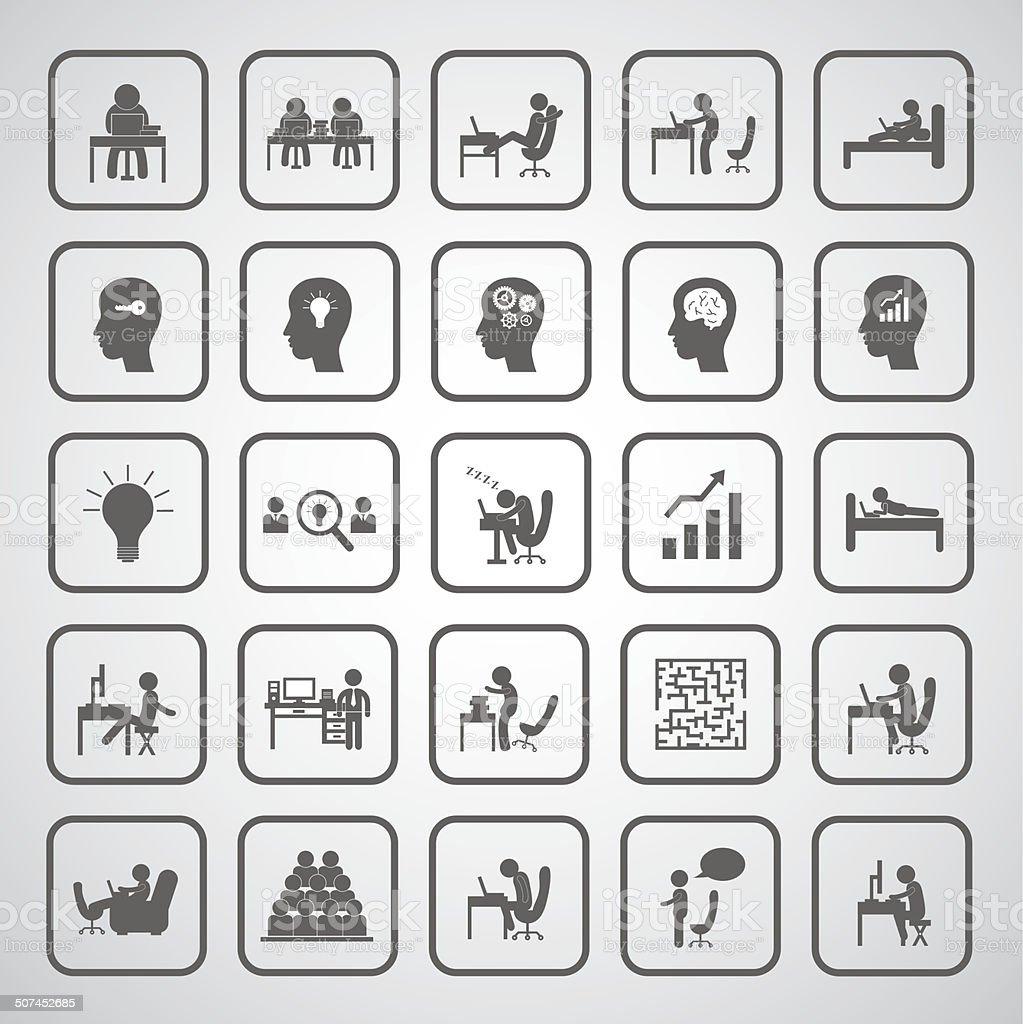 business man icon vector art illustration