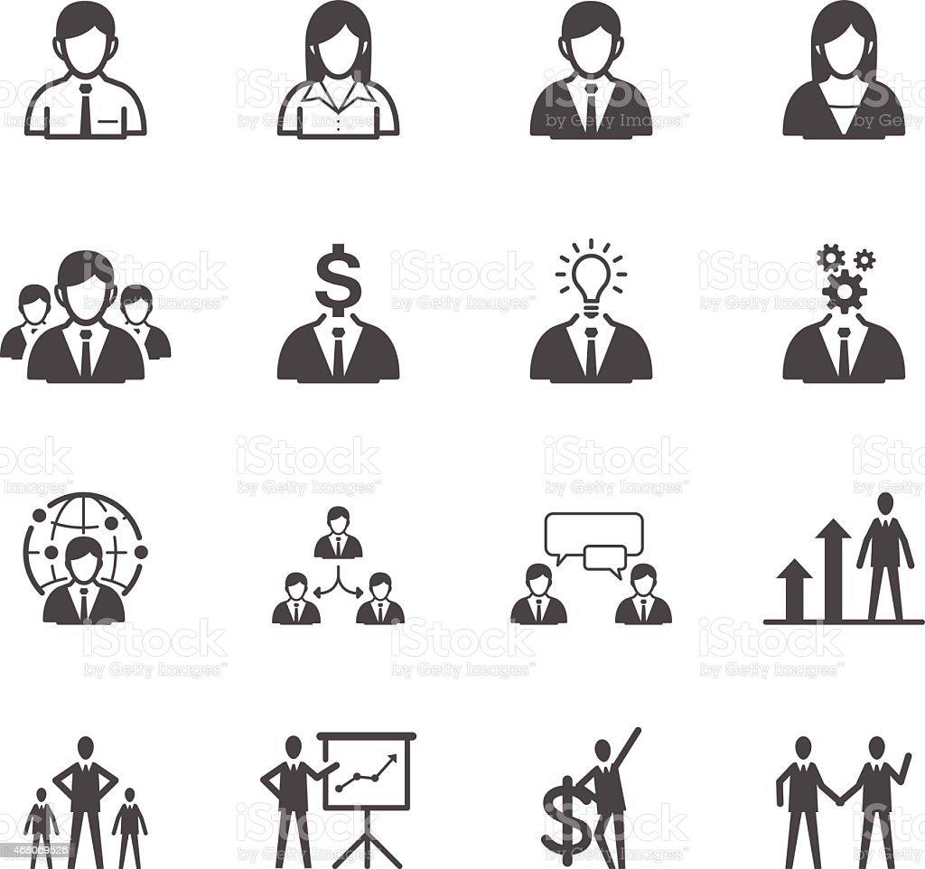 Business man Icons vector art illustration