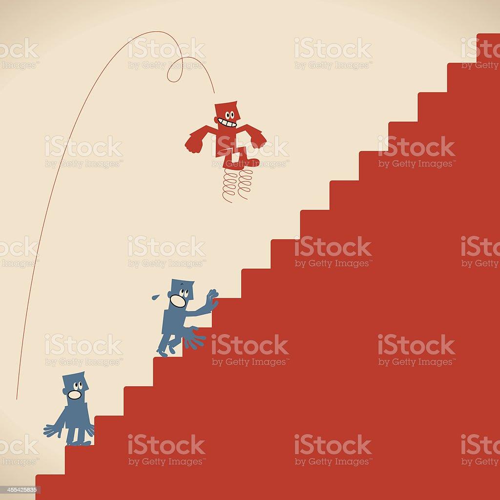 Business Man Jump royalty-free stock vector art