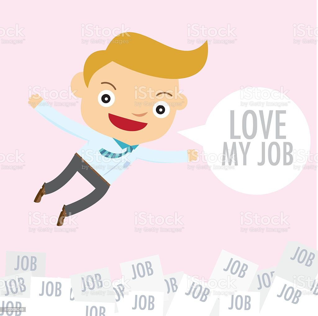 business man love job happy royalty-free stock vector art