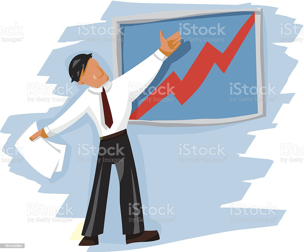 Business man presenting a new idea royalty-free stock vector art