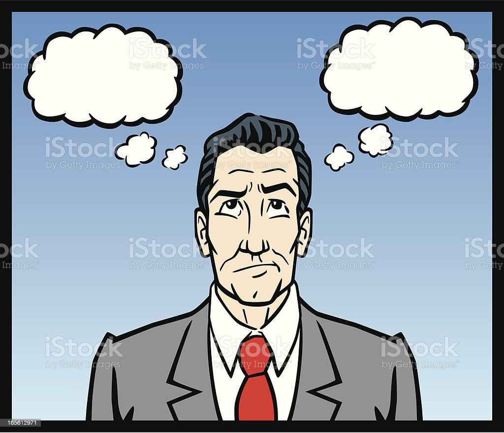 Business Man Thinking royalty-free stock vector art