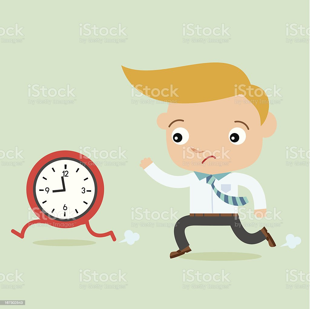 business man time late royalty-free stock vector art