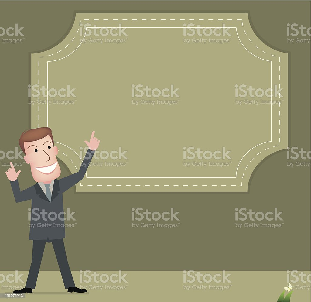 Business man with Bubble vector art illustration
